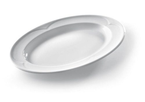 Hendi Ovale Serveer Schalen Wit Porselein | 34x24cm (6 stuks)