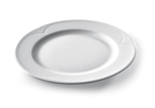 Hendi Round Plate White Porcelain | 24 cm (6 pieces)