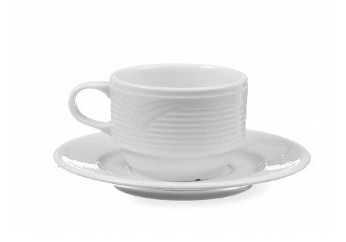 Hendi Weißes Porzellan Teller | 15 cm (6 Einheiten)