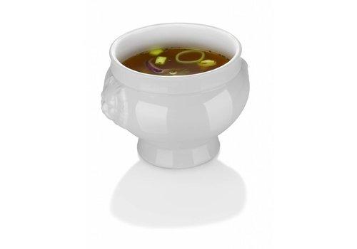Hendi Weißes Porzellan Suppenschüsseln 125ml | 6 Stück
