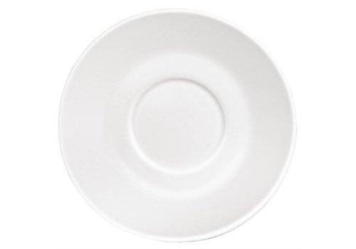 Olympia Untertasse Cappuccino Tassen Weißes Porzellan (12 Stück)