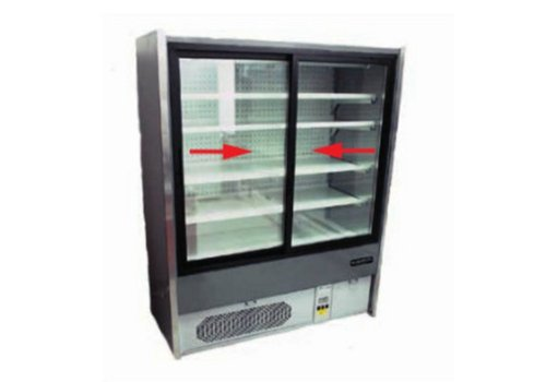 HorecaTraders Wall Refrigerator Catering - Forced - Automatic defrost - LED lighting