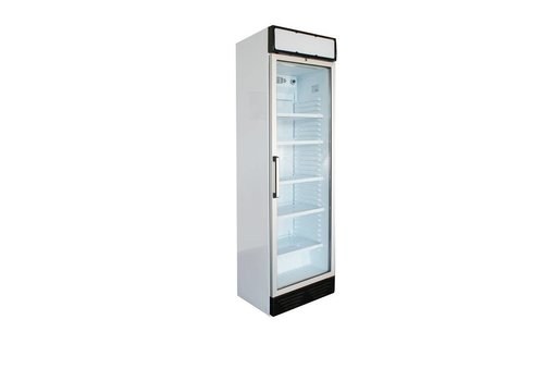 HorecaTraders Display Refrigerator | Left - turning Glass Door | LED Lighting | White