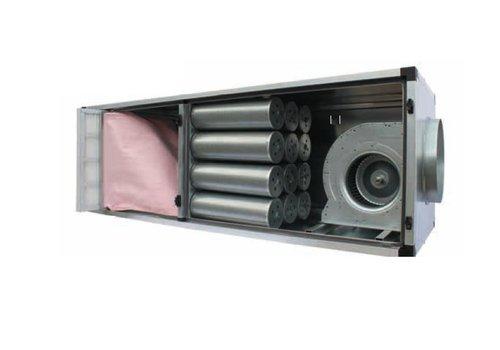 HorecaTraders Professionelle  Aktivkohle-Filterbox aus Edelstahl 8000 m3
