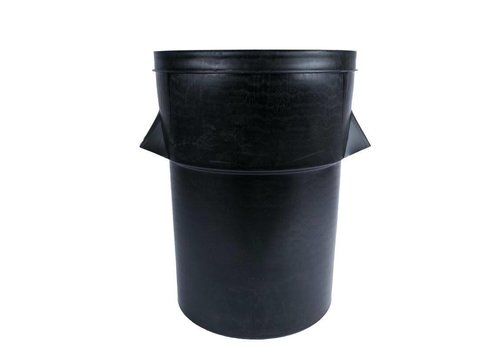 HorecaTraders Plastic garbage bin Black 94 liters