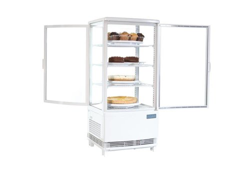 Polar Compact white Cooling display with glass door - 86 liters