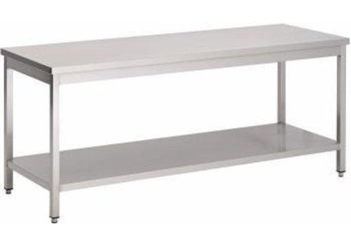 Saro RVS Werktafel | 180 x 70 x 85 x cm