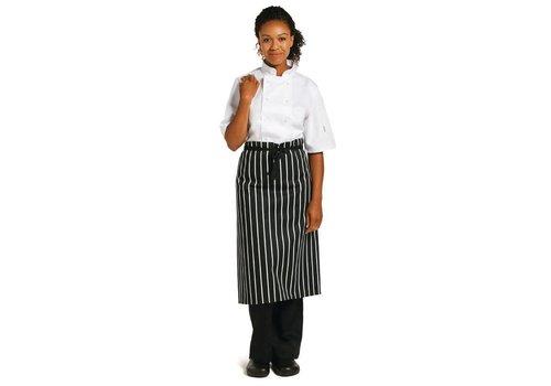 Chef Works Schürze | Schwarz-Weiß | Klassiker