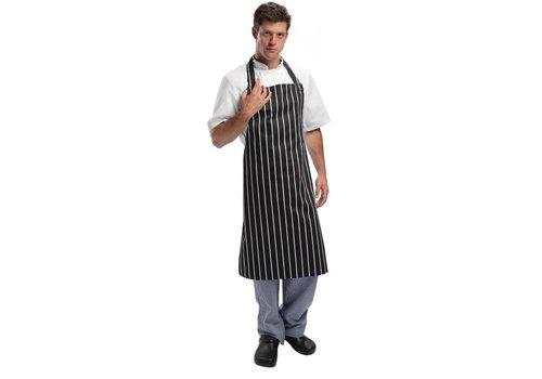Chef Works Kitchen Aprons Black / White Professional Series