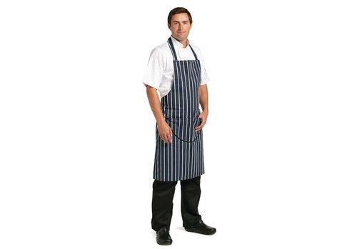 Chef Works Köche Schürzen Navy blau mit Streifen