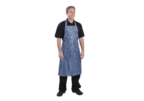 Chef Works Water-resistant Aprons Blue / White Stripes