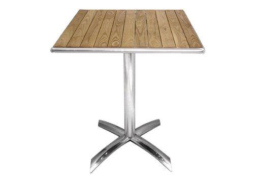 Bolero Ash Holzklappbistrotisch quadratisch 60cm