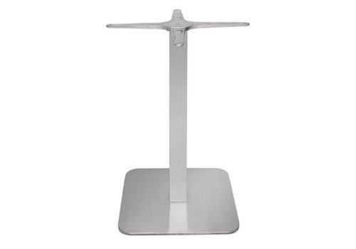 Bolero square stainless steel table leg - 68 cm high