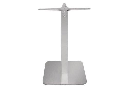 Bolero vierkante RVS tafelpoot - 68 cm hoog