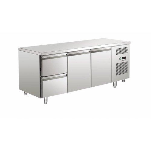 Kühltische mit 2 Türen und 2 Schubladen