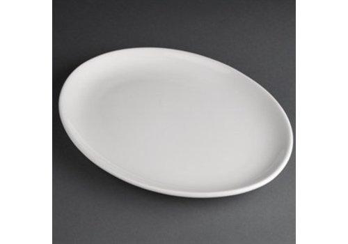 Athena Porzellan ovale flache Platte | 30 cm (sechs Stück)
