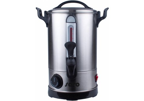 HorecaTraders Stainless steel hot water dispenser 6 or 9 liters