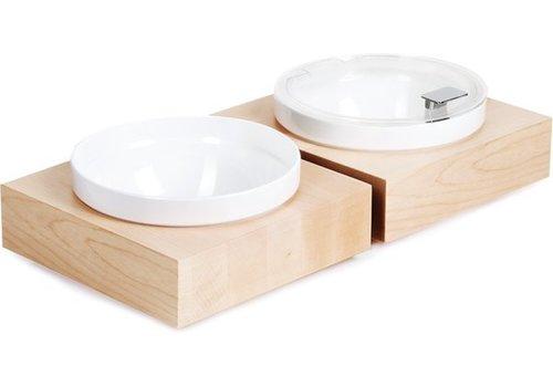 APS Inklusive Früh Platte Weiße Schüssel und Deckel | 26,5x26,5x (H) 8,5 cm