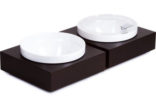 APS Black Buffet Plate with Bowl and lid | 26,5x26,5cm