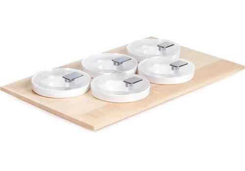 APS Buffet-Platte mit 5 Schalen und Deckel | 53x33cm