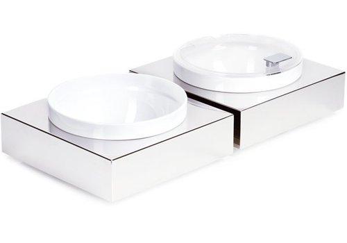 APS Buffetplaat Inclusief Witte Kom en deksel | 26,5x26,5cm