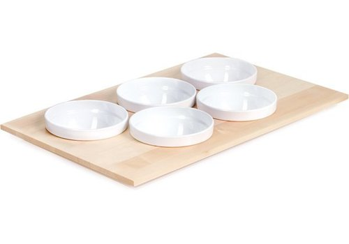 APS Buffet Plate with 5 White Bowls | 53x33cm