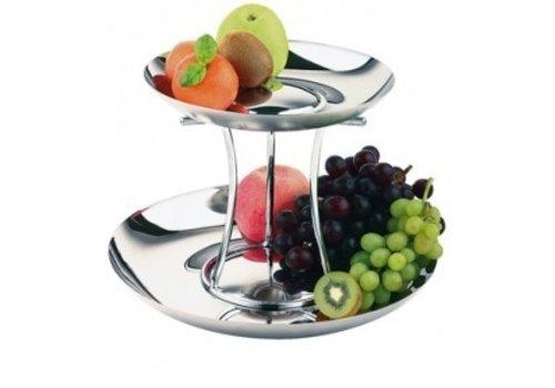 APS Luxus Edelstahl Frucht Etagère | 2 Etagen
