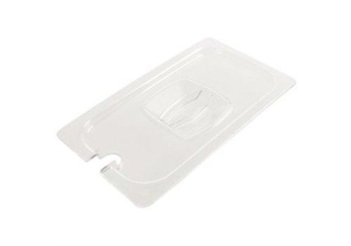 HorecaTraders CN Kunststoffdeckel mit Aussparung Löffel 1/4