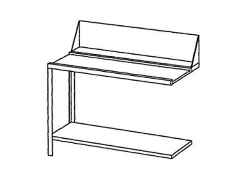 Bartscher Roestvrijstalen Aan- of afvoertafel links | 120x72x85 cm