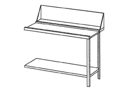 Bartscher Ablauftisch rechts aus frostsicherem Stahl | 120x72x85 cm