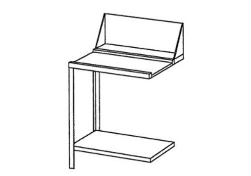 Bartscher Edelstahl Drehen oder Tisch Links Drain | 70x72x85 cm