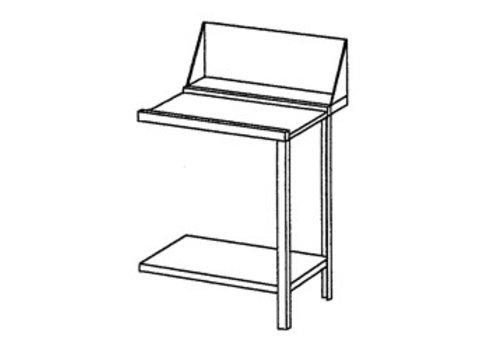 Bartscher Edelstahl Drehen oder Tabelle rechts entwässern | 70x72x85 cm