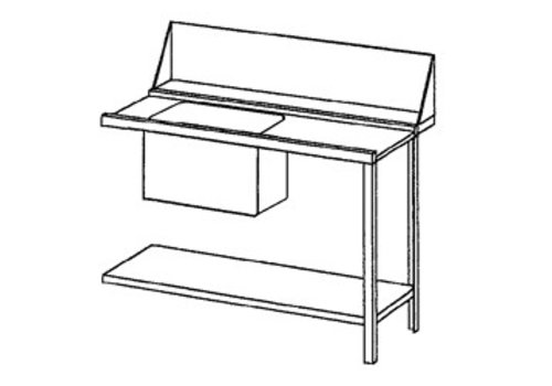 Bartscher Supply table right | Stainless Steel | 120x72x85 cm