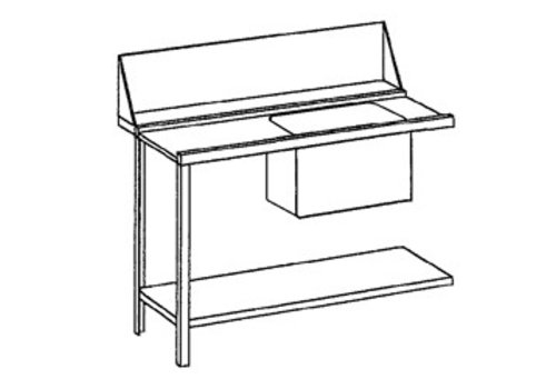 Bartscher Flow Table Links | Stainless Steel | 120x72x85 cm