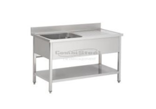 Combisteel Stainless steel sink Professional 3 Formats Sink left