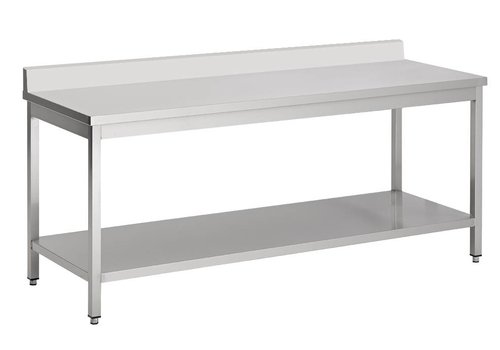 Combisteel Removable stainless steel work table (D) 60cm | 7 Formats