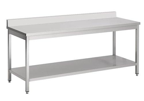 Combisteel Abnehmbarer Edelstahl-Arbeitstisch (D) 70cm | 7 Formate