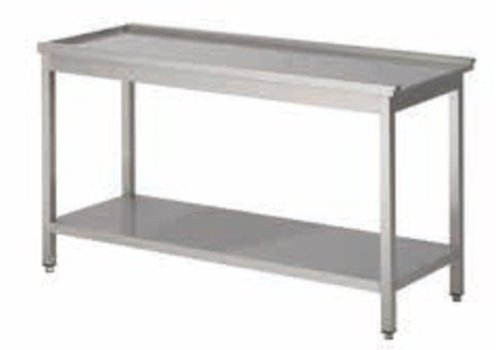 HorecaTraders Exhaust table right Professional | 5 Dimensions