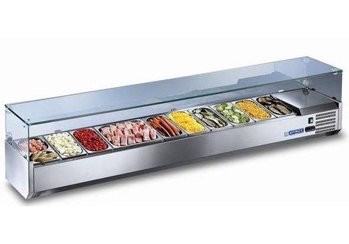 Afinox Kühlvitrine mit Glas | 110 x 40 x 43 cm