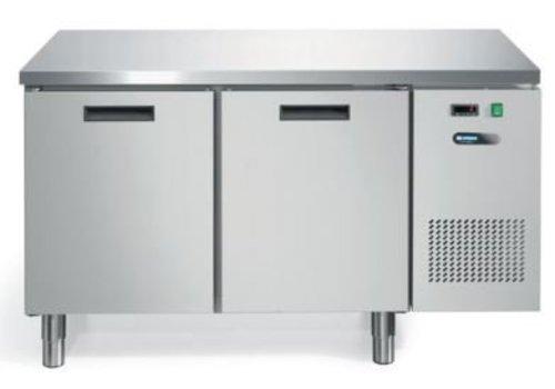 Afinox Koelwerkbank Geforceerd | RVS 2 Deurs | 140 x 70 x 81 cm