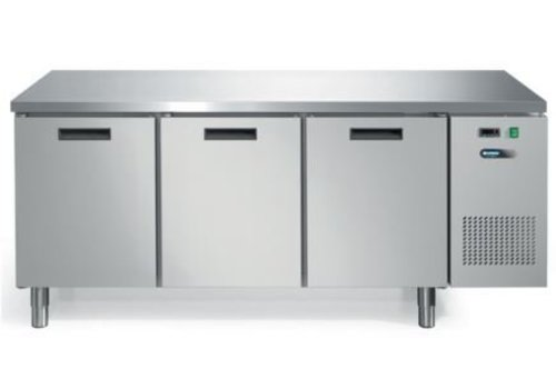Afinox Cool Workbench with stainless steel countertop 3 Doors | 193 x 70 x 85 cm