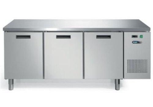 Afinox Koelwerkbank met Werkblad RVS  3 Deuren | 193 x 70 x 85 cm