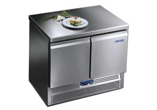 Afinox Geforceerde Saladette & Werkbank met 2 deuren 100x70x85 cm