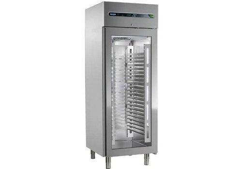Afinox Zwangs-Kühlung mit Glastür 700 Liter 73x54x209cm