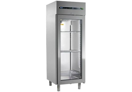 Afinox Commercial refrigerator with glass door 700 liters 73x84x209cm