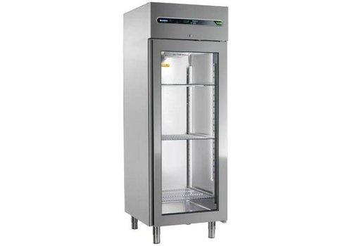 Afinox Gewerbe Kühlschrank mit Glastür 700 Liter 73x84x209cm
