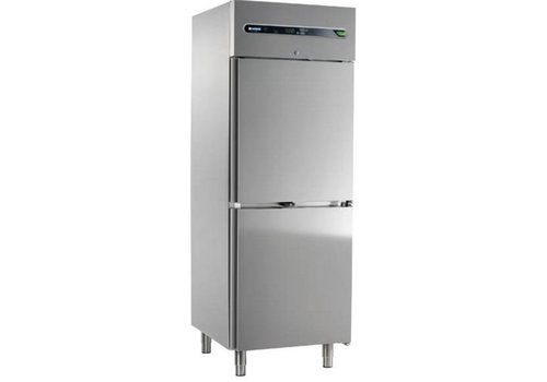 Afinox Zwangs Kühlschrank Doppeltür | Edelstahl | 700 Liter 73x54x209cm