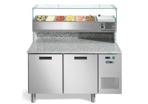 Afinox Pizza workbench with 2 doors 140x80x147 cm