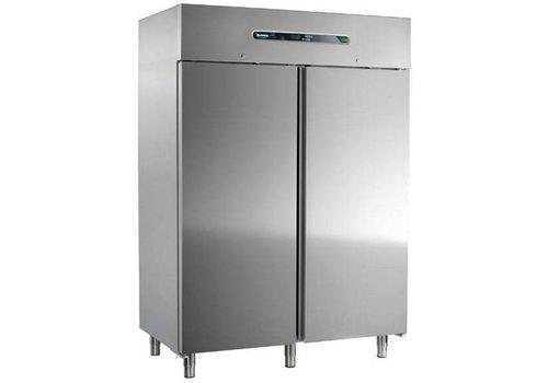 Afinox Zwangs-Kühlschrank | Edelstahl 2 Türen | 1400 Liter 147 x 84 x 209 cm