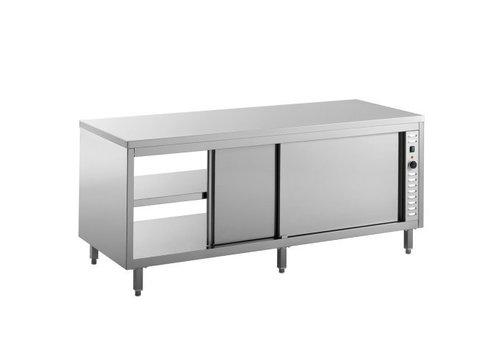 Combisteel Warmhoudkast 2 Deurs | 160x70x85 cm (bxdxh)